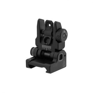 UTG ACCU-SYNC® Spring-loaded AR15 Flip-up Rear Sight